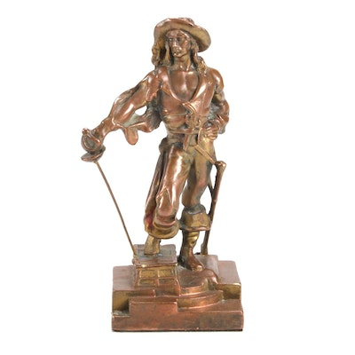 Bronze Clad Pirate in the Style of Paul Herzel, Early to Mid 20th Century