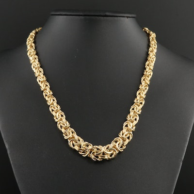14K Yellow Gold Byzantine Chain