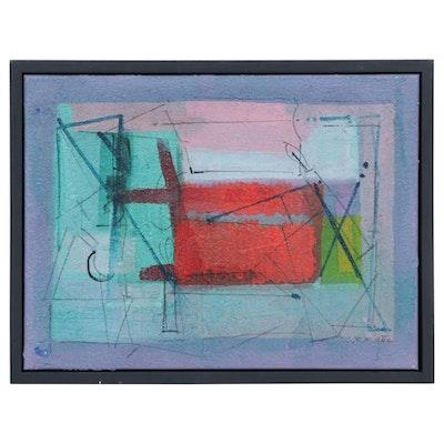 "Antonio Carreño Mixed Media Painting ""Crescent #2,"" 2019"