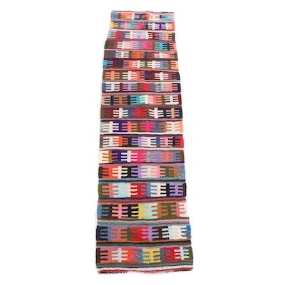 2'11 x 12'0 Handwoven Persian Kilim Wool Carpet Runner