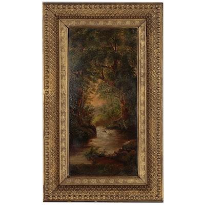John Zang Riverscape Oil Painting