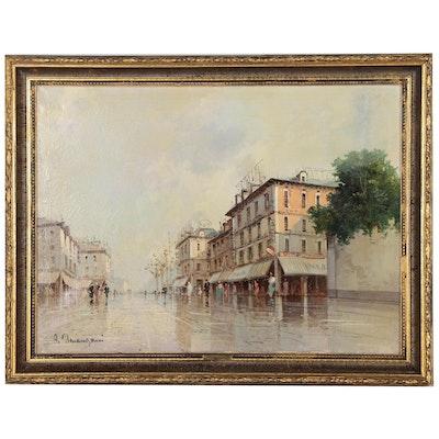 Aldo Marangoni Cityscape Oil Painting