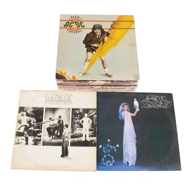 AC/DC, Genesis, Stevie Nicks and 70s and 80s Vinyl Record Albums