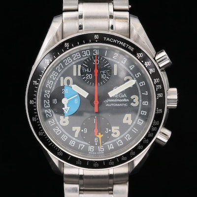 Omega Speedmaster MK40 Stainless Steel Automatic Chronograph Wristwatch