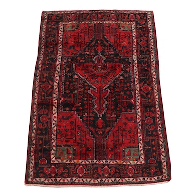 4'11 x 7'8 Hand-Knotted Persian Yalameh Wool Rug