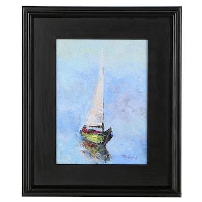 "James Baldoumas Oil Painting ""Doldrums"""