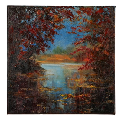 "Garncarek Aleksander Oil Painting ""Autumn"""