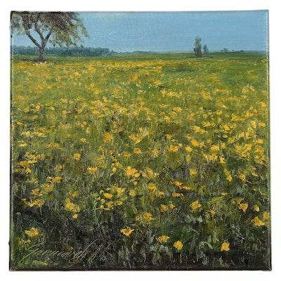 "Garncarek Aleksander Oil Painting ""Spring"""