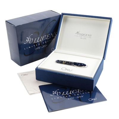 Omas Limited Edition 360 Lucens Celluloid and Sterling Roller Ball Pen, 2006