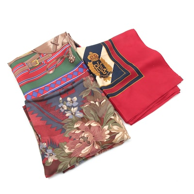 Ralph Lauren and Mark Cross Silk Scarves