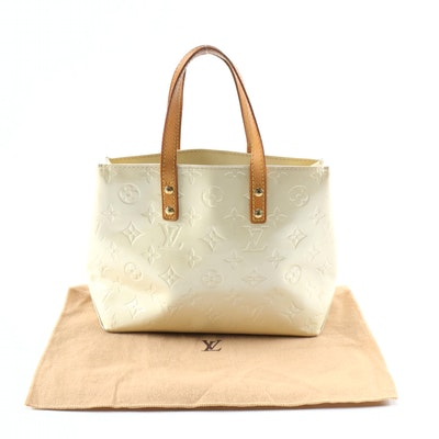 Louis Vuitton Columbus PM Tote in Monogram Vernis and Vachetta Leather