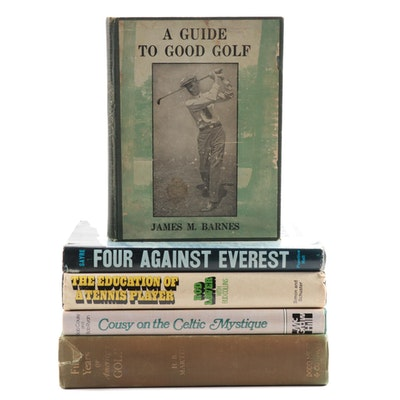 "Sports Books Including Signed ""Cousy on the Celtic Mystique,"" Rod Laver and More"