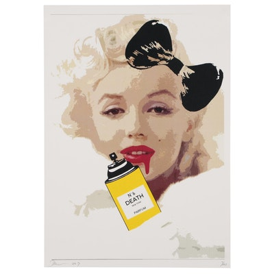 Death NYC Offset Lithograph Featuring Marilyn Monroe