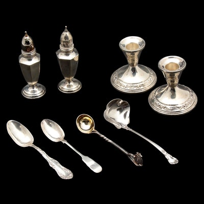 Towle, Gorham and Other Sterling Silver Table Accessories and Utensils