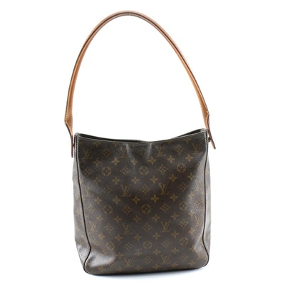 Louis Vuitton Looping Bag GM in Monogram Canvas and Vachetta Leather