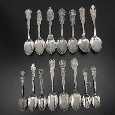 American Sterling Silver Souvenir Spoons