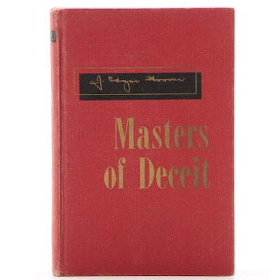 "Signed Eleventh Printing ""Masters of Deceit"" by J. Edgar Hoover, 1962"