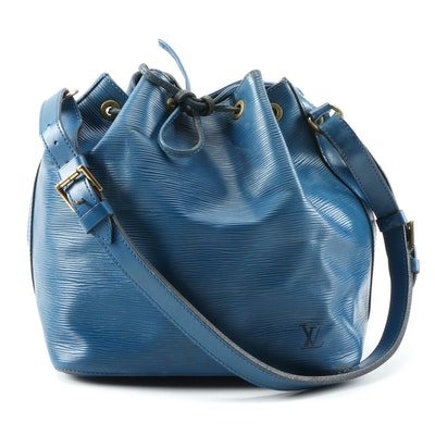 Louis Vuitton Petit Noé in Toledo Blue Epi and Smooth Leather