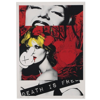 Death NYC Offset Lithograph Featuring Kate Moss