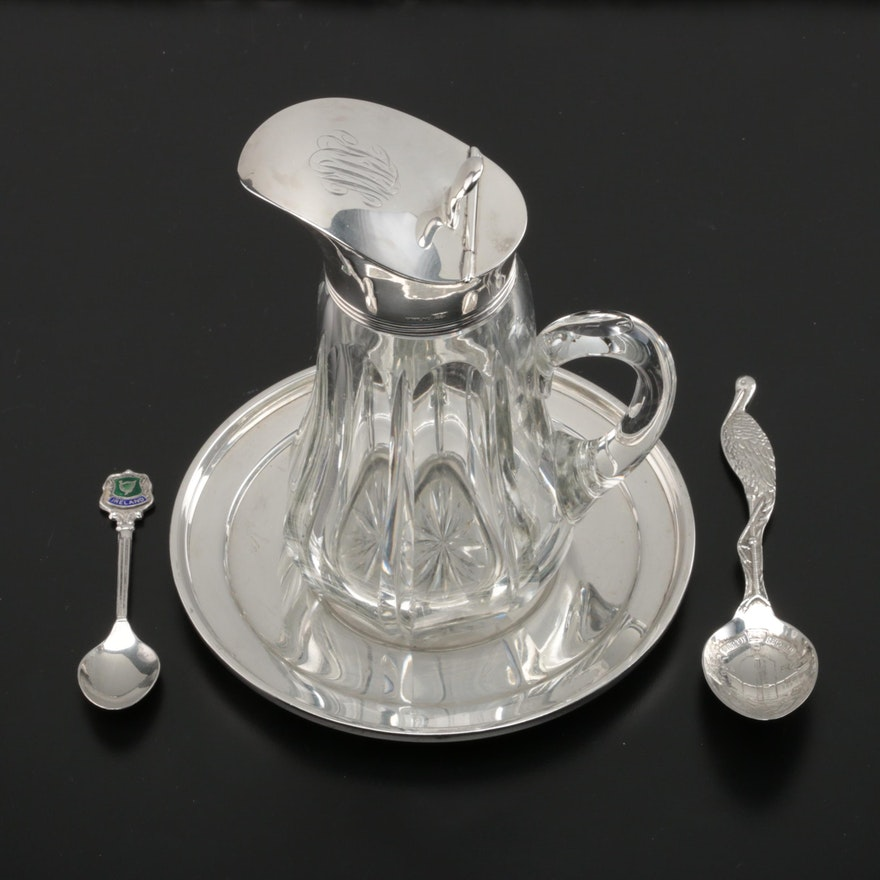 Sterling Silver Souvenir Spoons and Other Table Accessories