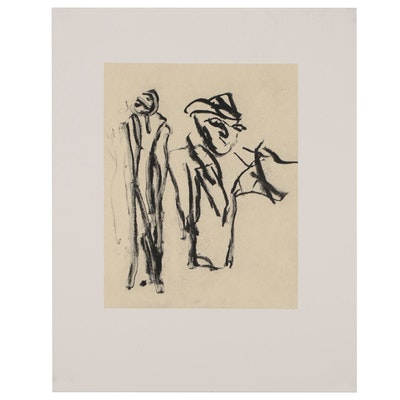 "Willem de Kooning Lithograph from ""Poems"" by Frank Mara"