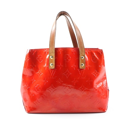 Louis Vuitton Reade PM Tote in Red Monogram Vernis and Leather