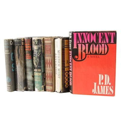 """First Edition """"The Gigantic Shadow"""" by Julian Symons and Other Mystery Books"""