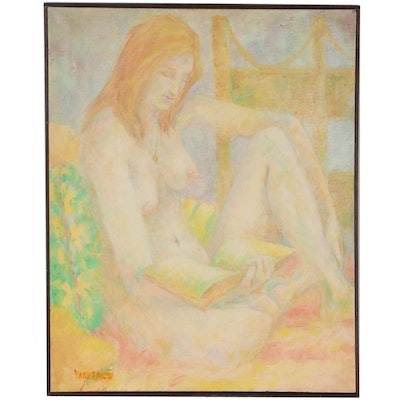 Wanda Stella Varriale Figural Oil Painting