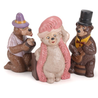 "Walt Disney ""Country Bears"" Ceramic Figurines, Late 20th Century"