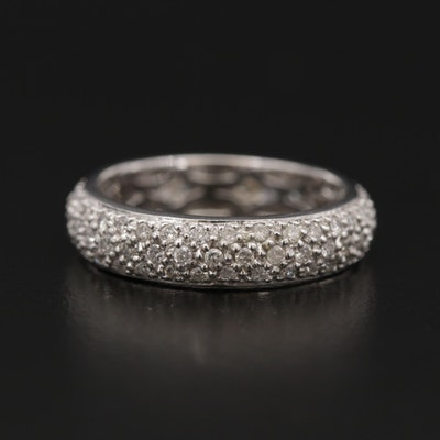 14K White Gold 1.86 CTW Pavé Diamond Eternity Band