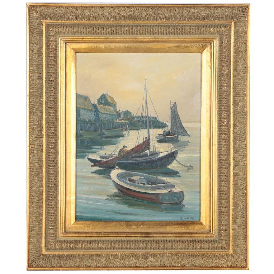 "William De Garthe Oil Painting ""Afternoon Light"", 1955"