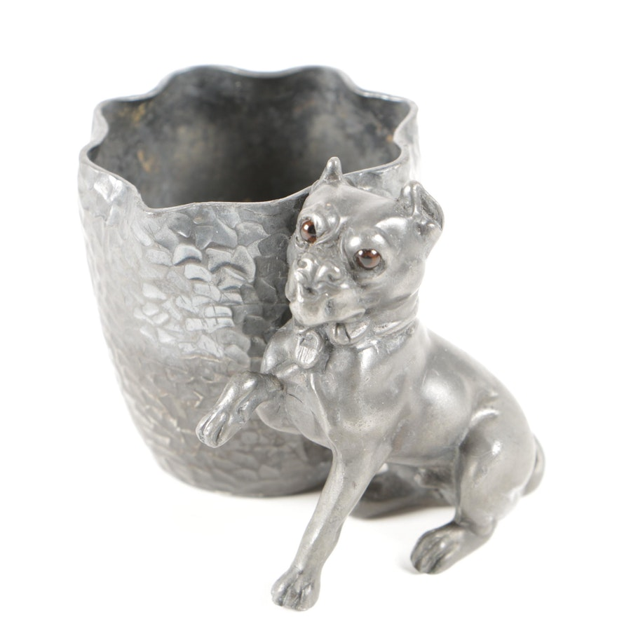Derby Silver Co. Silver Plate Figural Dog Toothpick Holder