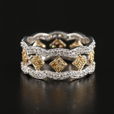 14K White and Yellow Gold 1.40 CTW Diamond Ring
