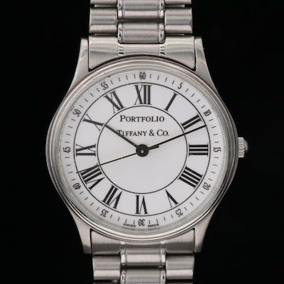 Tiffany & Co. Portfolio Stainless Steel Quartz Wristwatch