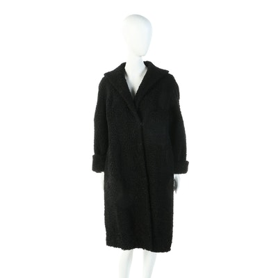 Black Persian Lamb Fur Coat from Tobin's Fine Furs of Brooklyn, NY, Vintage
