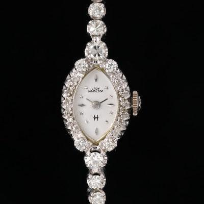 Lady Hamilton 14K Gold 1.62 CTW Diamond Wristwatch