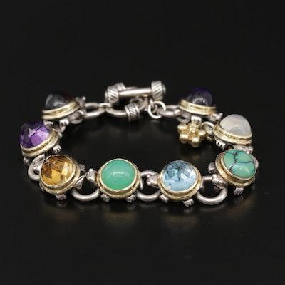 Saint by Sarah Jane Garnet, Amethyst and Gemstone Bracelet with 18K Accents