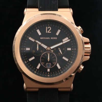 Michael Kors Dylan Rose Gold Tone Chronograph Quartz Wristwatch