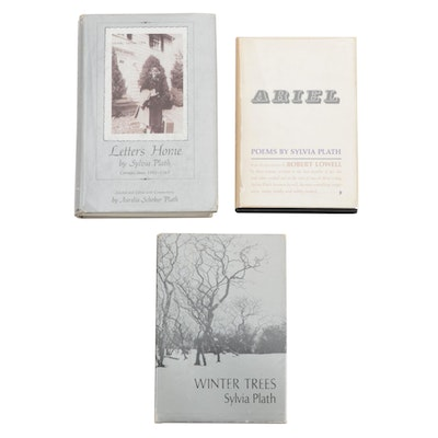 "First Edition Sylvia Plath Poetry and Letters Books Including ""Ariel"""