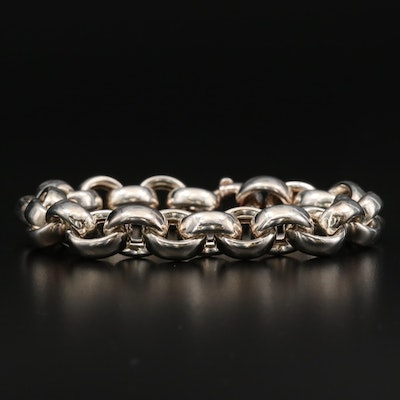 Sterling Cable Chain Link Bracelet