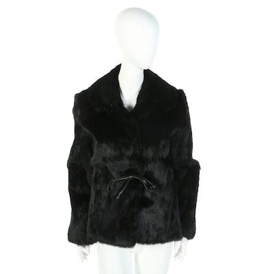 GDT Too Black Rabbit Fur Jacket