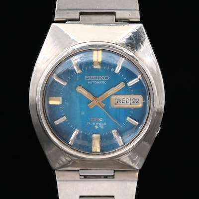 Vintage Seiko DX Stainless Steel Automatic Wristwatch With Day - Date