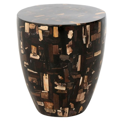 Contemporary Mixed Wood Pedestal