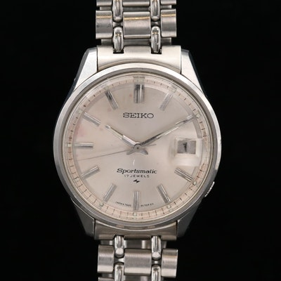 Vintage Seiko Sportsmatic Stainless Steel Wristwatch