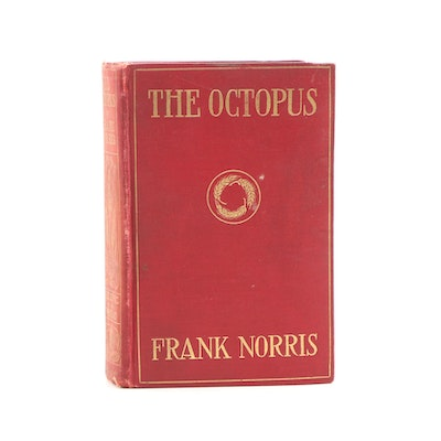 """1901 First Edition """"The Octopus"""" by Frank Norris"""