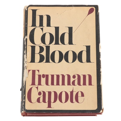 """First Trade Edition """"In Cold Blood"""" by Truman Capote with Dust Jacket, 1966"""