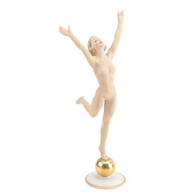 "Art Deco Hutschenreuther ""Sun Child"" Nude Figurine"