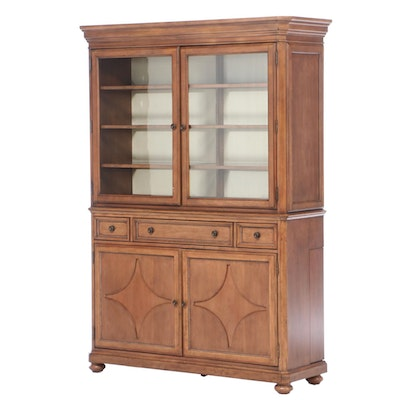 Bassett Furniture Louis Philippe Style Cherry China Cabinet