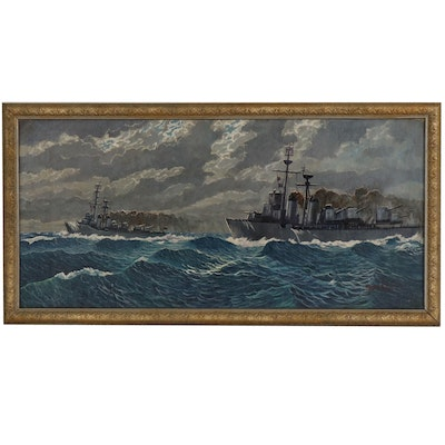 Herb Richter Nautical Oil Painting