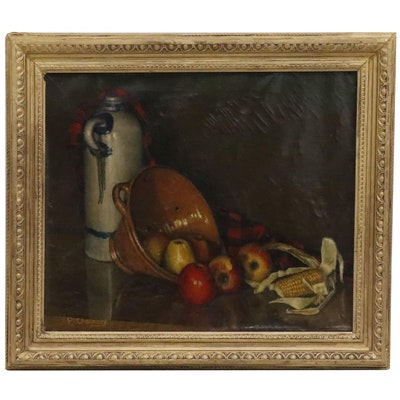 Paul Charavel Still Life Oil Painting
